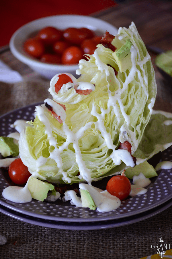 Easy and delicious this avocaod wedge salad is a fun take on the classic