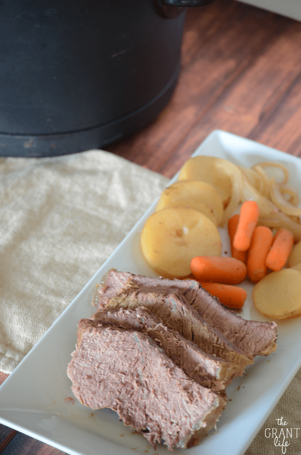 Easy and delicious - this crock pot pot roast is the perfect meal for a busy weeknight