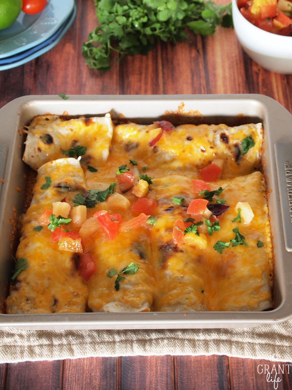 Easy crock pot roast enchiladas