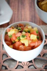 Easy peachy salsa