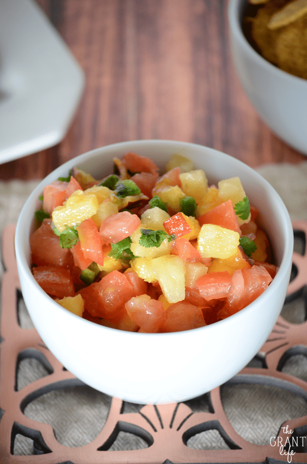 Easy peachy salsa