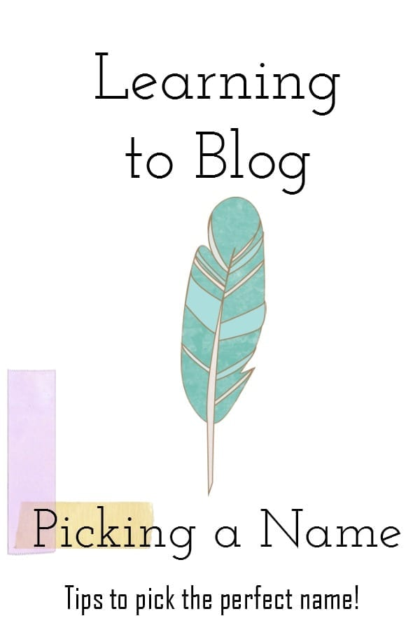Learning to Blog – Picking a Name