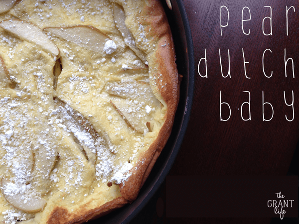 Pear dutch baby recipe
