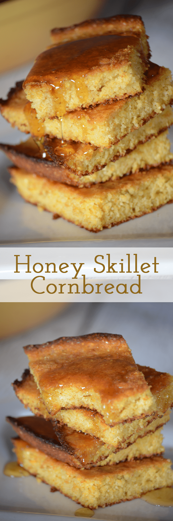 You have got to try this honey skillet cornbread recipe! It is so good and perfect for soups or just to snack on! Easiest recipe I have found too