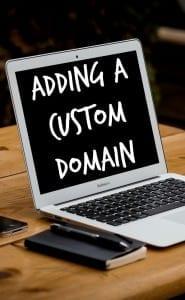 Adding a custom domain