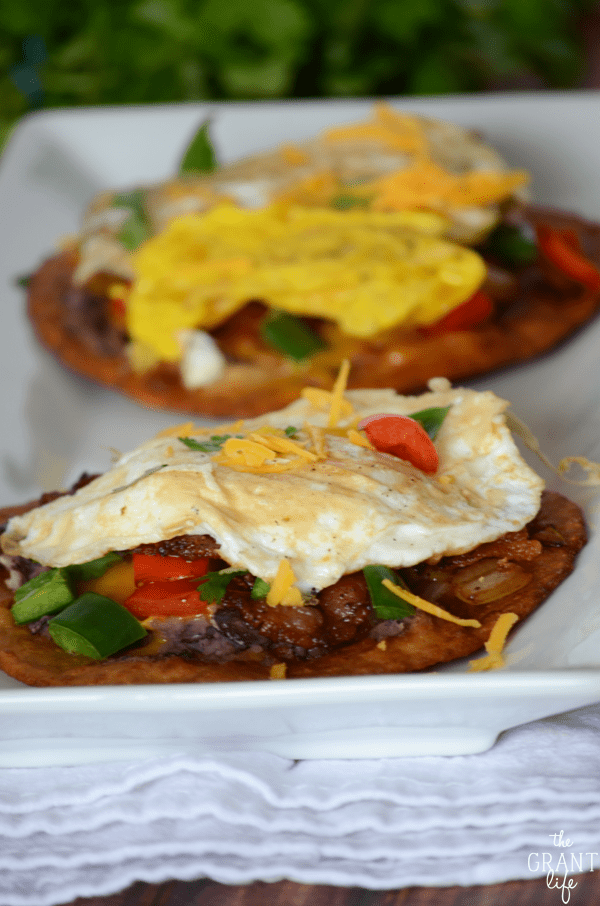 Check out these loaded breakfast tostadas!