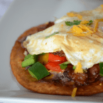 Easy and delicious loaded breakfast tostadas!