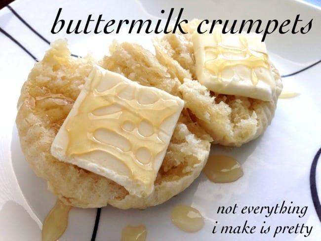 Easy buttermilk crumpets