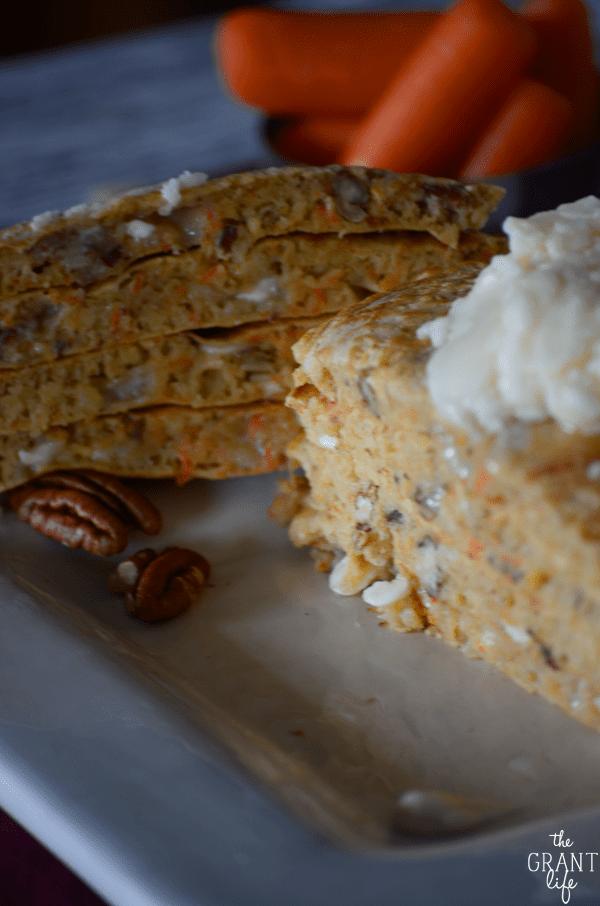 Easy carrot cake pancake recipe