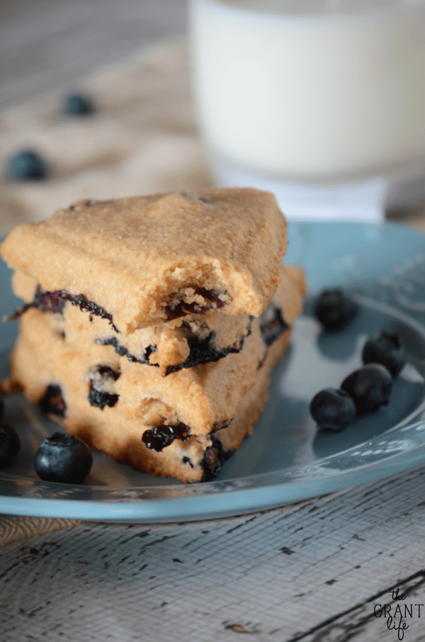 Healthy blueberry scone recipe