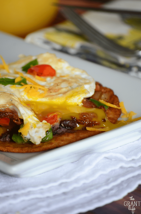 I am drooling thinking about these loaded breakfast tostadas! They look amazing