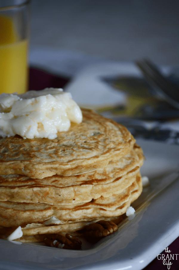 Perfect carrot cake pancake recipe!