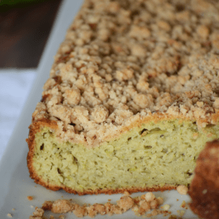 Zucchini bread with crumb topping! This looks so amazing!