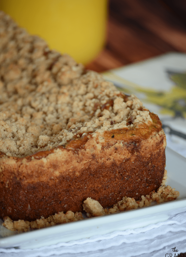 Zucchini bread with crumb topping recipe