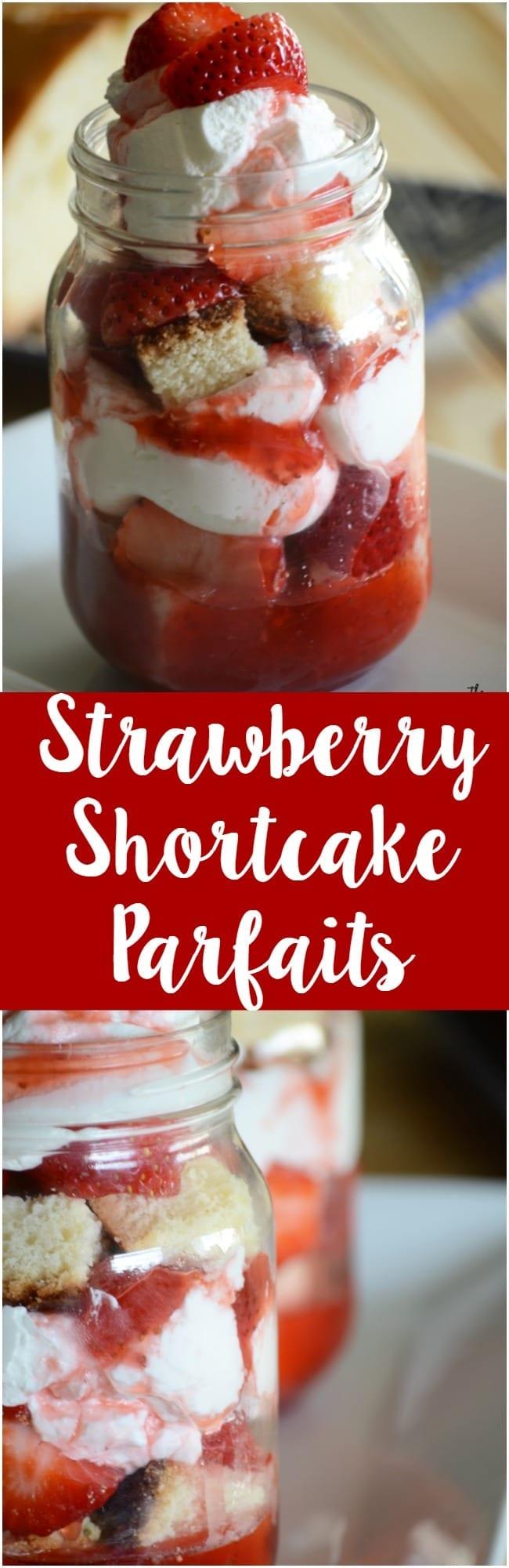 Homemade strawberry shortcake parfaits!