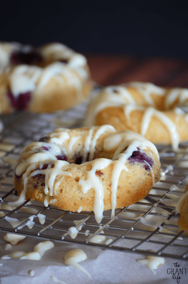 Lemon blueberry cake donuts