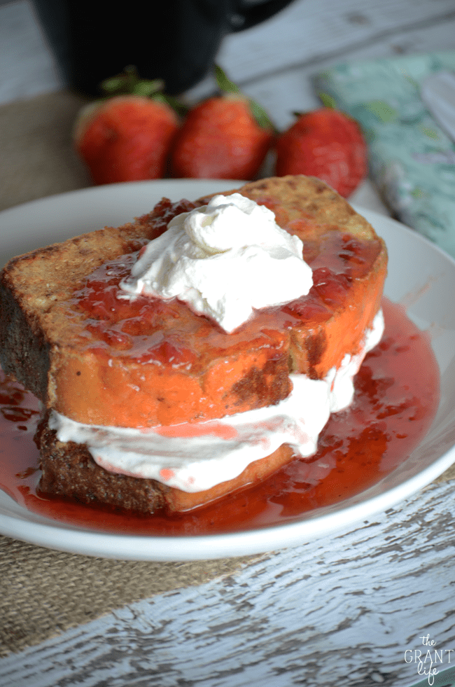 Make this strawberry shortcake french toast for breakfast!