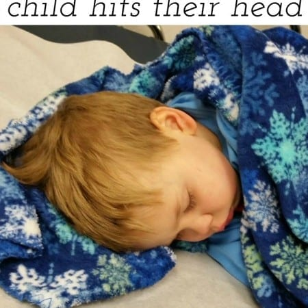 What to do if your child hits their head.  Advice from a mom who has been there!