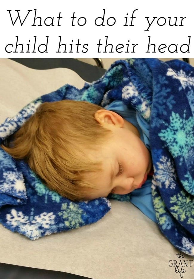 What to do when your children hits their head