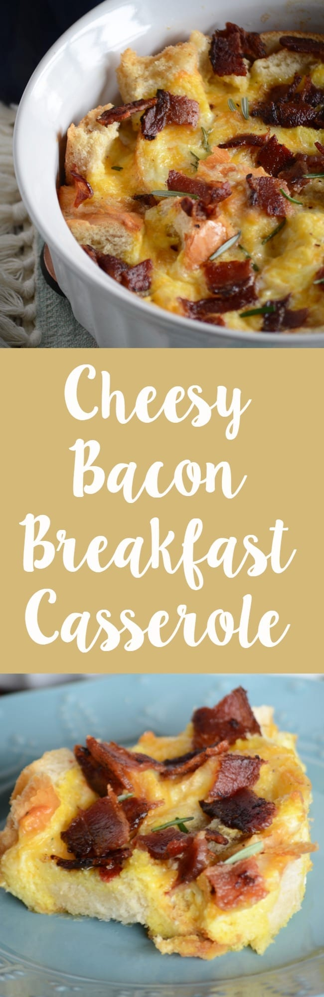 Cheesy bacon breakfast casserole recipe