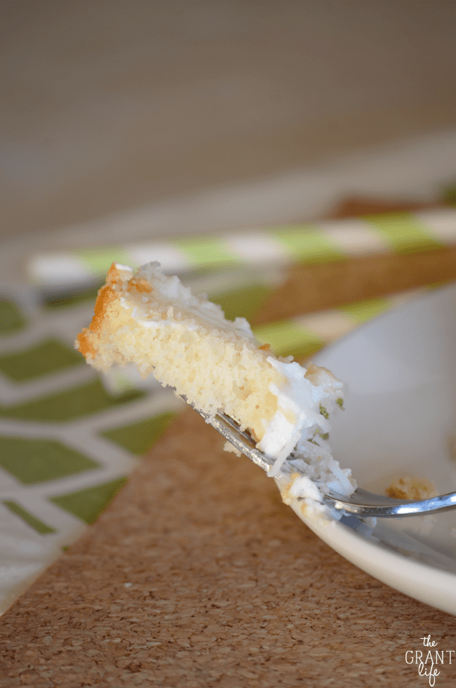 How to make key lime pie poke cake