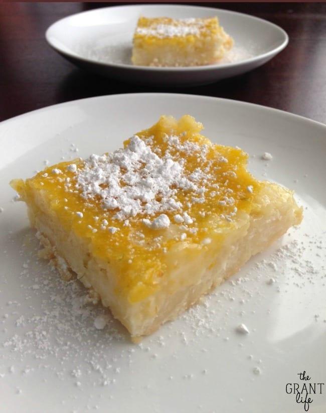 Lemon Lime Macaroon Bars