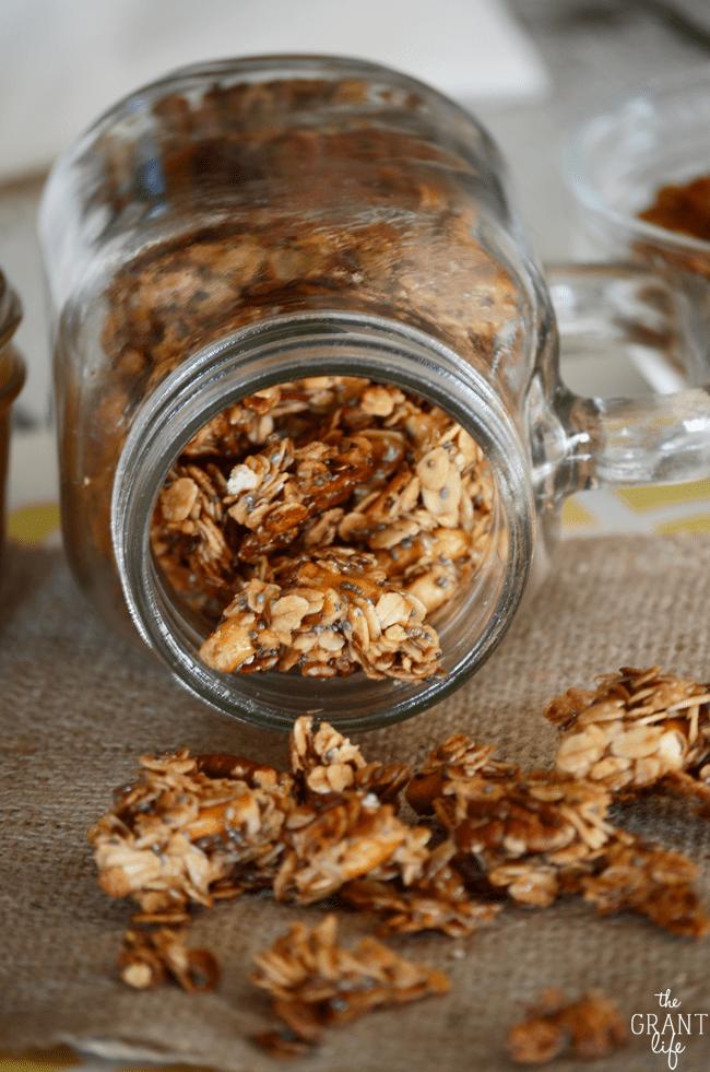 How to make salted caramel granola