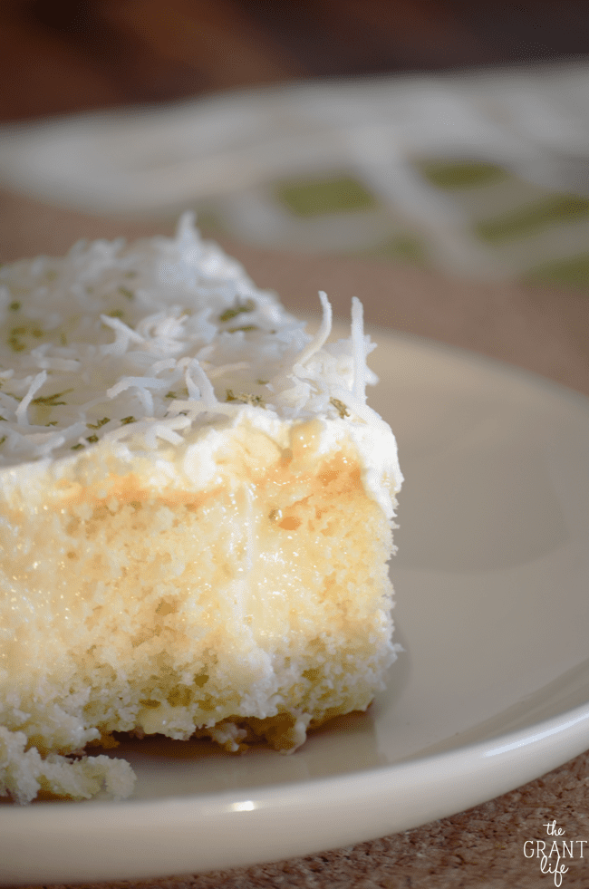Key lime pie poke cake