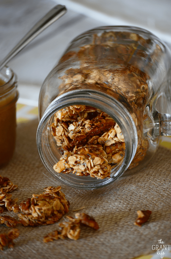 Salted caramel granola recipe