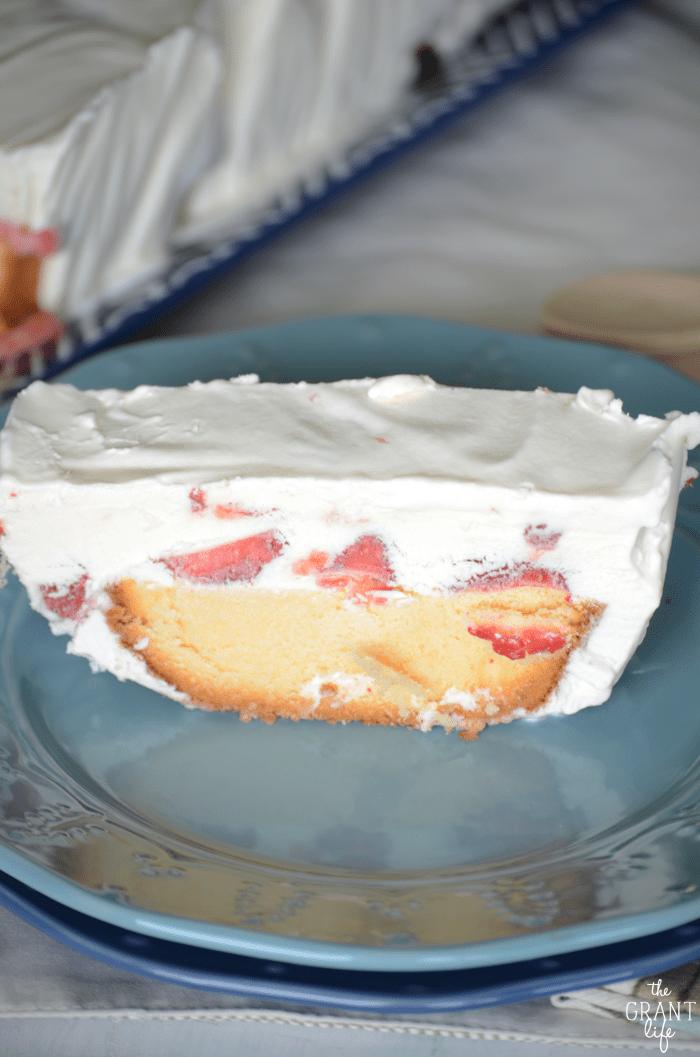 Easy no bake frozen strawberry shortcake recipe!