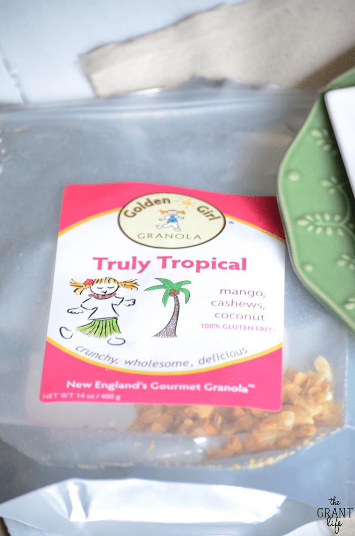 Golden girl truly tropical granola