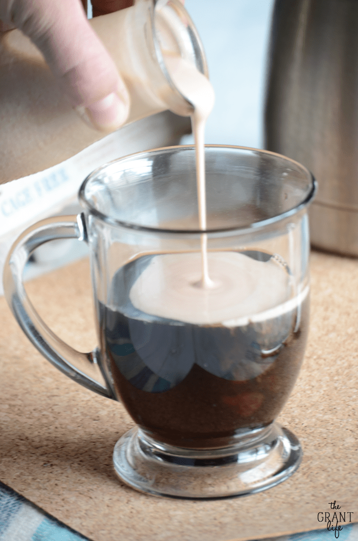 Thick and creamy - Mounds coffee creamer!