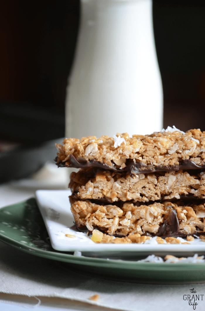 Tropical granola bar recipe