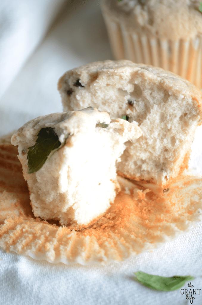 Blackberry mint pound cake muffins