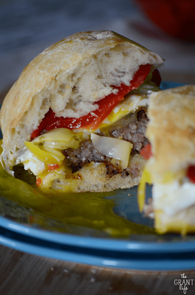Easy recipe for an Italian breakfast sandwich