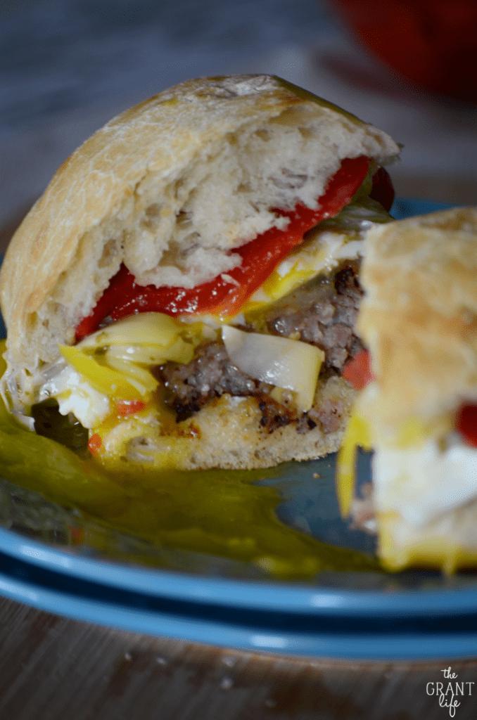 Easy recipe for an Italian breakfast sandwich