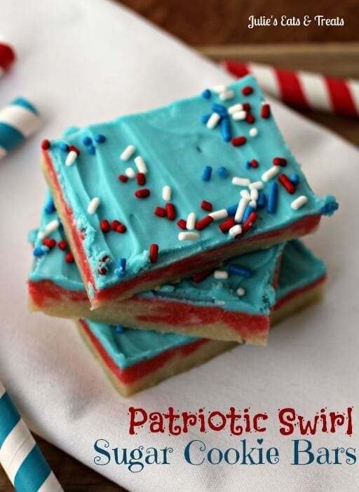 14./ Patriotic swirl cookie bars // Another yummy 4th of July cookie ...
