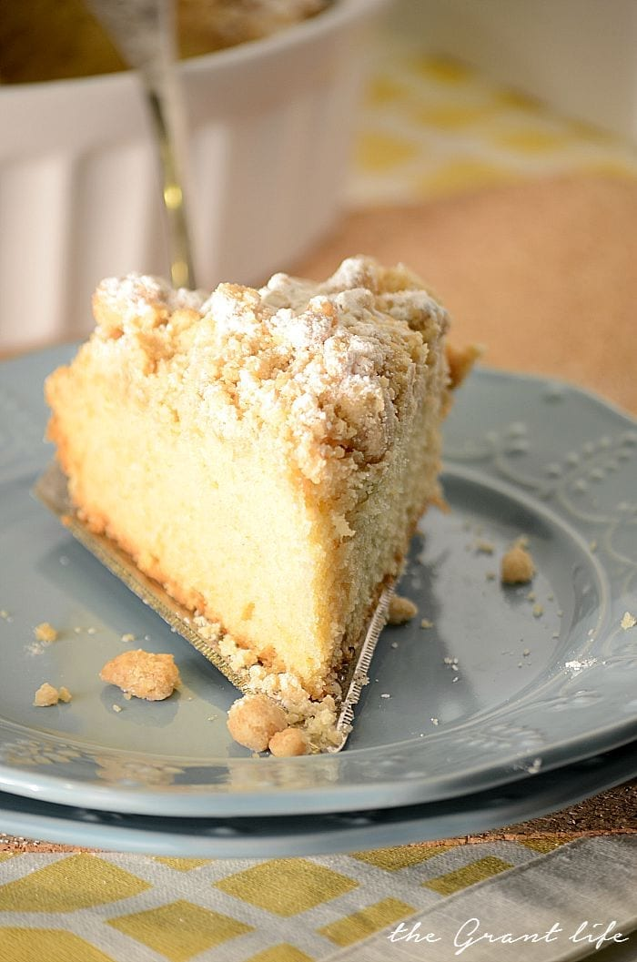 Easy New York style coffee cake!