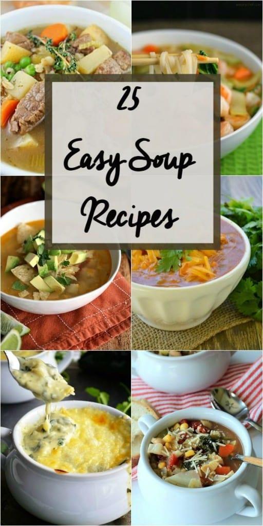 25 Easy soup recipes
