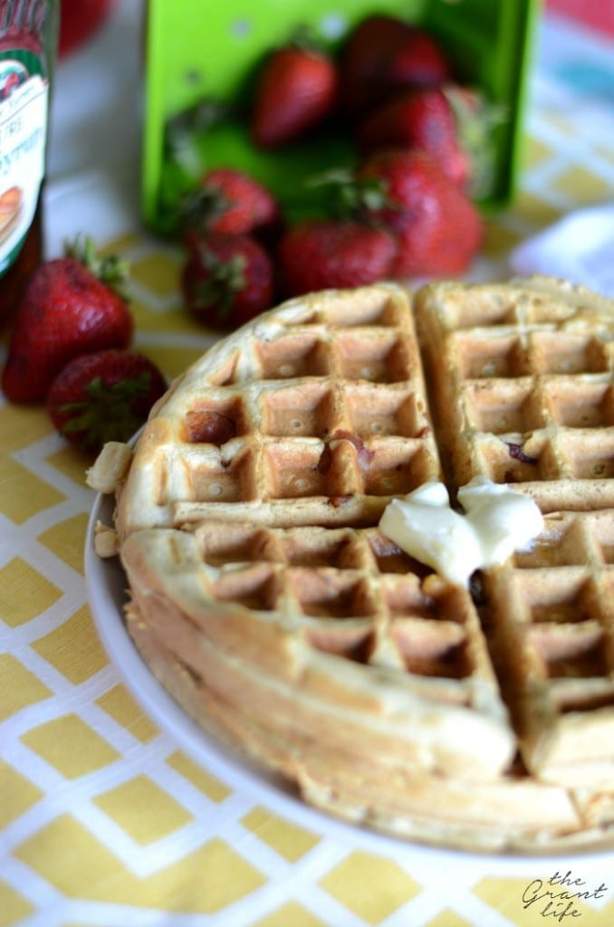 Delicious maple bacon waffles