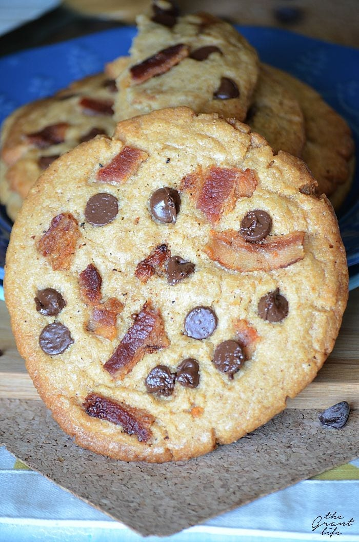 Giant peanut butter bacon cookies