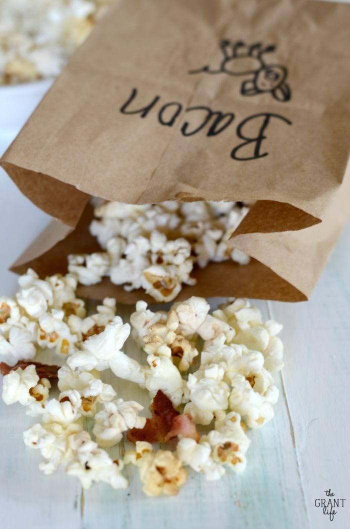 Homemade bacon fat microwave popcorn