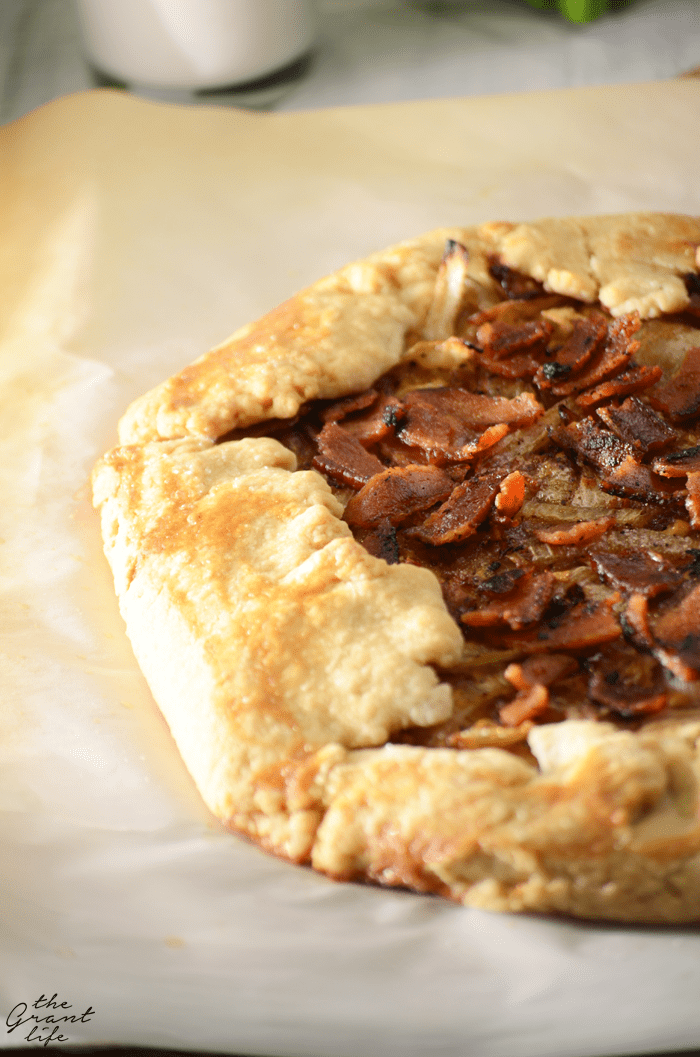 Homemade bacon onion tart