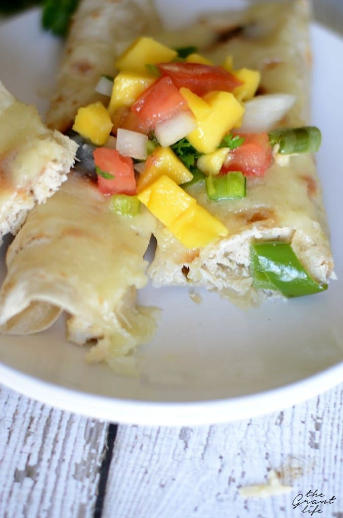 Homemade creamy hatch chili chicken enchiladas are perfect for dinner