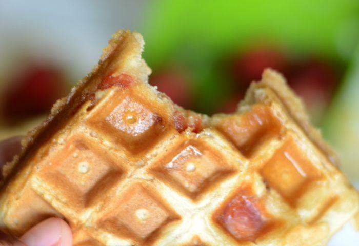 Homemade maple bacon waffles!