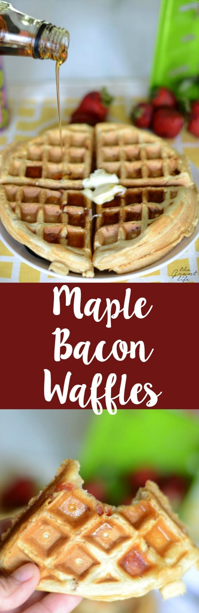 Homemade maple bacon waffles
