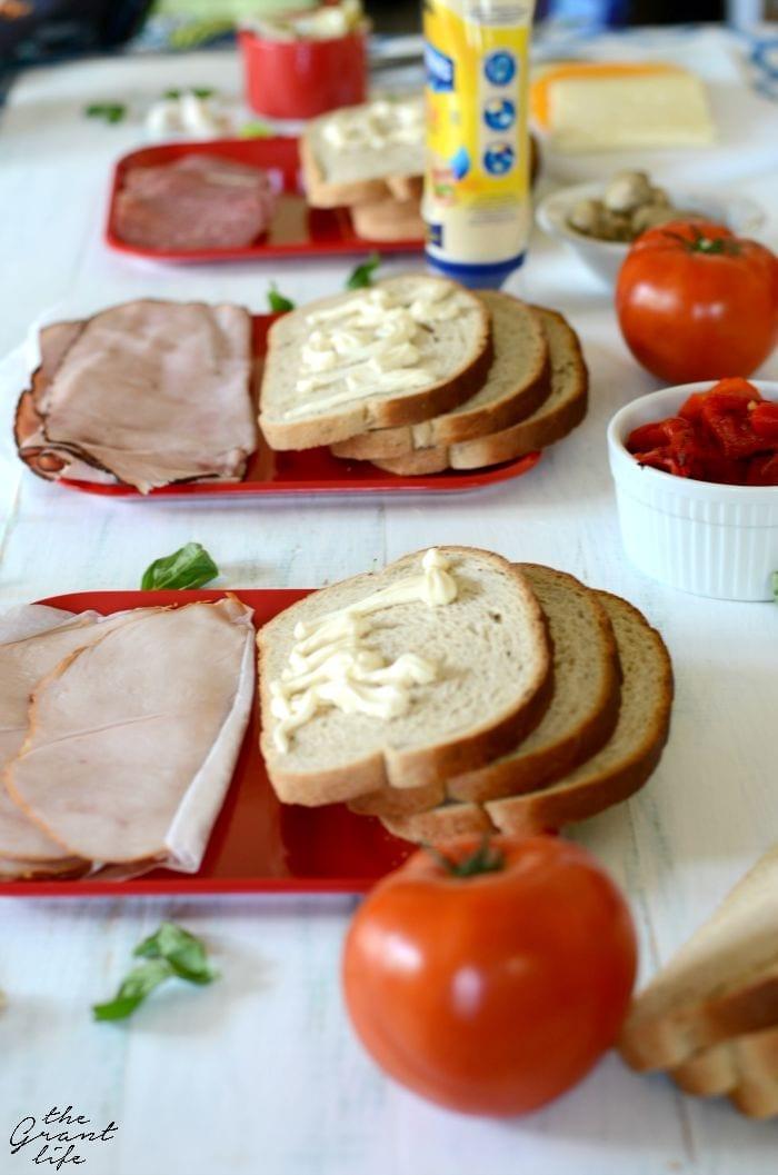Make your own sandwich bar
