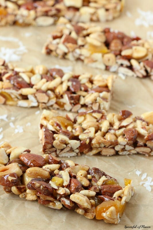 Mango Coconut Nut Bars - Delicious and packed full of yummy protein for busy days!