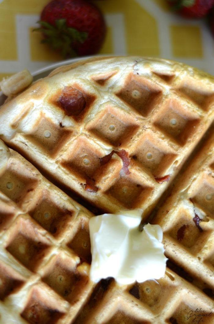 Maple bacon waffle recipe!