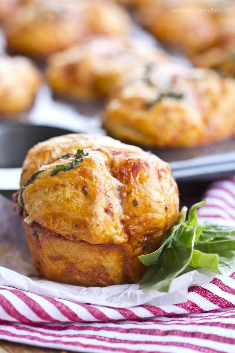 Pizza Pull Apart Muffins - lunch, snack or dinner...you pick!